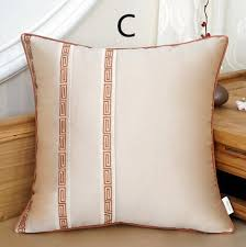 flowers embroidered decorative pillows for brown sofa beige throw