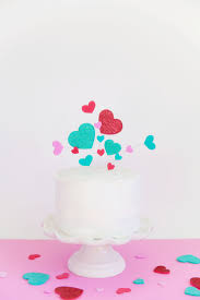 heart cake topper hearts cake topper tell and party