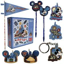 another look at magic kingdom 45th anniversary products arriving