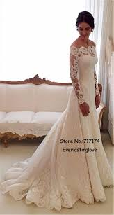 wedding dress no white the shoulder lace sleeve bridal gowns sheath cheap