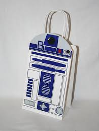 wars gift bags wars r2 d2 inspired birthday party favor gift bag 2 25 via