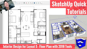 a floor plan creating a floor plan in layout with sketchup 2018 s new tools
