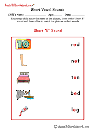 short vowel sounds matching pictures aussie childcare network