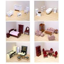 Dollhouse Kitchen Furniture Amazon Com Melissa U0026 Doug Deluxe Doll House Furniture Bundle