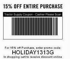 tractor supply black friday the mane point printable coupon 15 percent off everything at