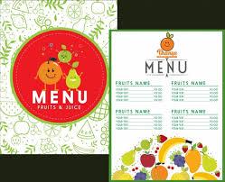 fruit menu template stylized icons decor various symbols free