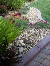 garden ideas landscaping with river rock ideas river rock