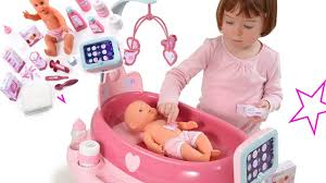 new smoby pink baby doll electronic nursery center tiatia
