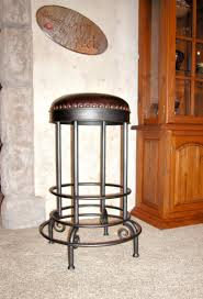 create wild west feel with 3 western bar stools