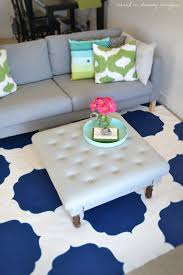 Discontinued Rugs Remodelaholic Moroccan Stenciled Rug Diy