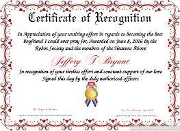 certificate of recognition free certificate templates you can