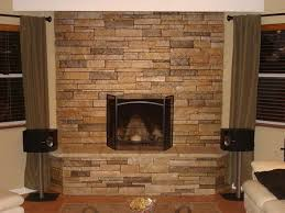 flat stone fireplace home design