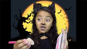 cute halloween cat makeup halloween kitty cat makeup tutorial 7 year old youtube