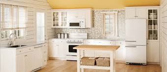 captivating small kitchen ideas with l shaped white finish wooden