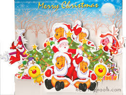 winnie the pooh christmas wallpapers christmas cartoons
