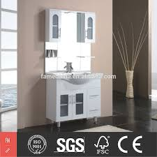 Glass Bathroom Shelving Unit by Bathroom Soft Closing Frosted Glass Door Bathroom Cabinets