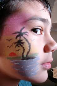 tropical face paint luau hawaii tutu sweet