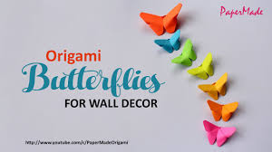 paper butterflies for your wall decoration diy decor