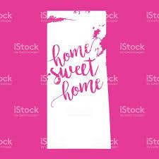 Map Of Saskatchewan Home Sweet Home Vector Map Of Saskatchewan Stock Vector Art