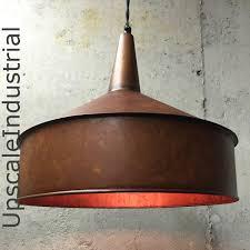 industrial kitchen lighting pendants steampunk lighting pendant light vintage copper finish funnel
