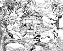 dessin de la cabane les robinsonades coloriages pinterest