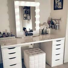 Bedroom Makeup Vanity With Lights Diy Vanity Mirror With Lights For Bathroom And Makeup Station