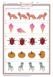 http www mathworksheets4kids com same different odd position