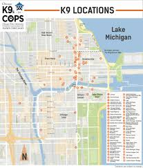 Downtown Chicago Map by Magnificant Mile U0027s New Unofficial Mascot The Canine Cop Chicago