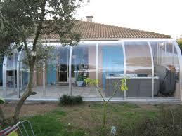 terrasse transparente abri de spa adossé ou accolé coulissant véranda pour spa