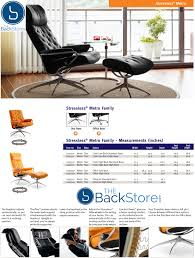 reclining back chair with ottoman ekornes stressless metro low back leather recliner chair metro