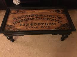 spirit halloween killeen ouija board coffee table laser printed on paper and transferred