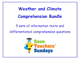 comprehension guided reading on climate zones by