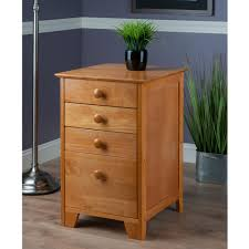 amazon com winsome wood file cabinet with 4 drawers honey
