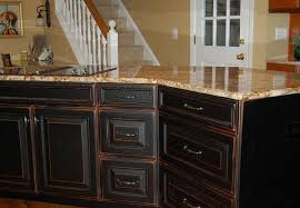 Rustic Painted Kitchen Cabinets by Distressing Cabinets Bar Cabinet