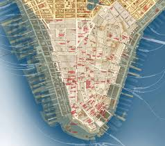 downtown manhattan map culturenow publishes its lower manhattan then and now map