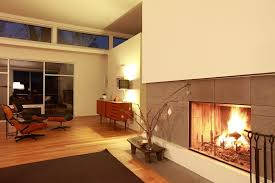White Tile Fireplace Family Room Modern With Clerestory - Family room lamps