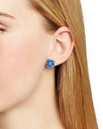 kate spade new york beach house bouquet mini stud earrings in blue