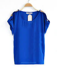 royal blue blouse top royal blue roll sequined sleeve chiffon blouse clothes