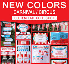 carnival or circus birthday party invitation tutorial
