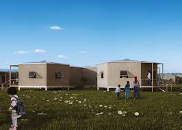 Low Cost Home Building Architects For Society Creates Low Cost Hexagon Refugee Houses