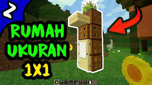 membuat rumah di minecraft cara membuat rumah survival minimalis ukuran 1x1 di minecraft pe pc