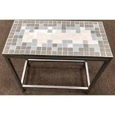 Gray Accent Table Monarch Blue U0026 Gray 24