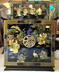 Lacquer Bar Cabinet Chinese Lacquer Bar Cabinet With Beautiful Paintings Assamika