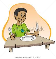 child sitting clipart illustration representing child sitting without food stock vector