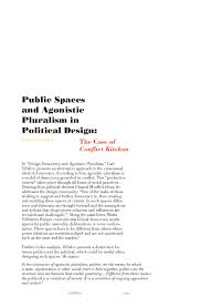 public spaces and agonistic pluralism in design the case of