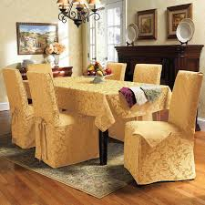 Covering Dining Room Chairs Emejing Red Dining Room Chair Covers Pictures House Design