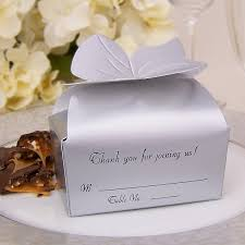 silver boxes with bows on top 3 x 2 personalized bow top favor boxes