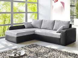 kunstleder sofa schwarz ecksofa vida 244x174cm webstoff grau kunstleder schwarz sofa