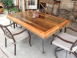 Plans For Outdoor Patio Table by Patio Tabletop Made From Reclaimed Deck Wood 4 Steps With Pictures
