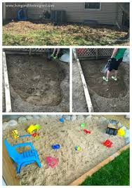 diy natural dug in sandbox in your own backyard
